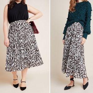 NWT ANTHROPOLOGIE Maeve Hildi Pleated Skirt XL